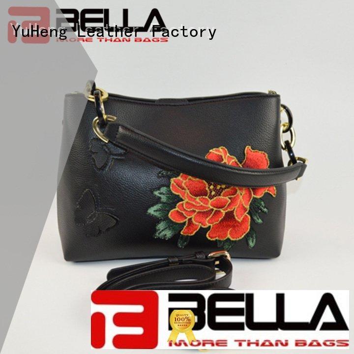1001 leather crossbody bag fashion black BELLA