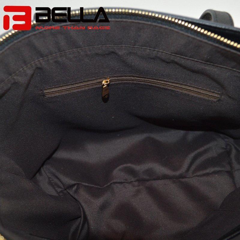 PU Handbag With Metal Zipper and Stars Decoration 6009B