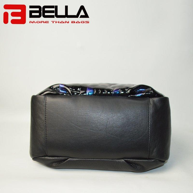 Hot Sale Leather Handbag with Fashion Blue Flash Color 6035C