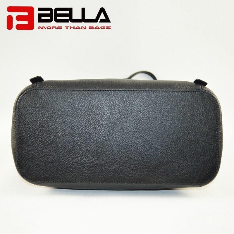Leather Handbag with Fashion Metal Stuff Decoration 6014C