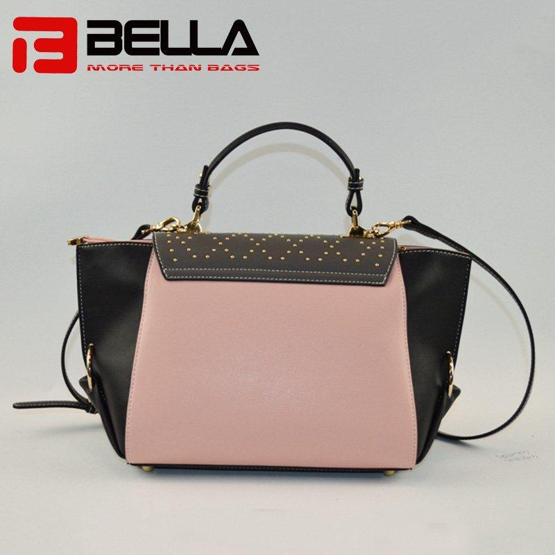 Latest Fashion PU Crossbody Bag with Contrast Colors 9017