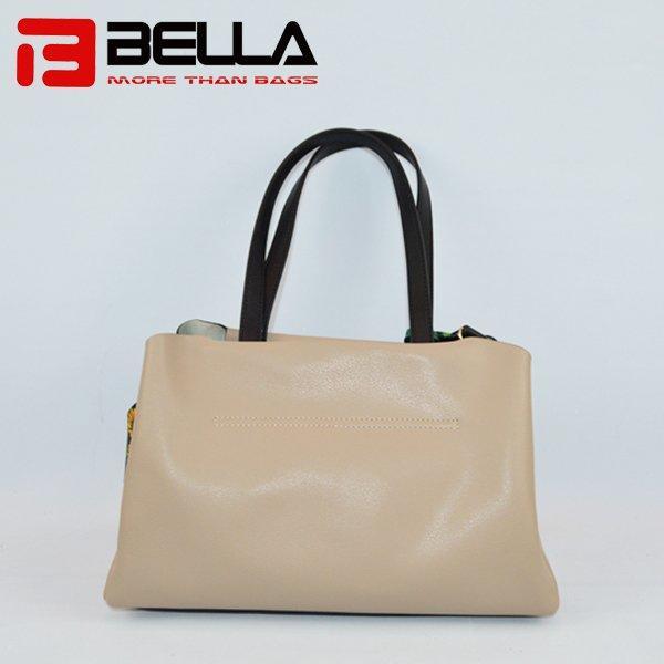 PU Crossbody Bag with Colorful Webbing Shoulder 1001