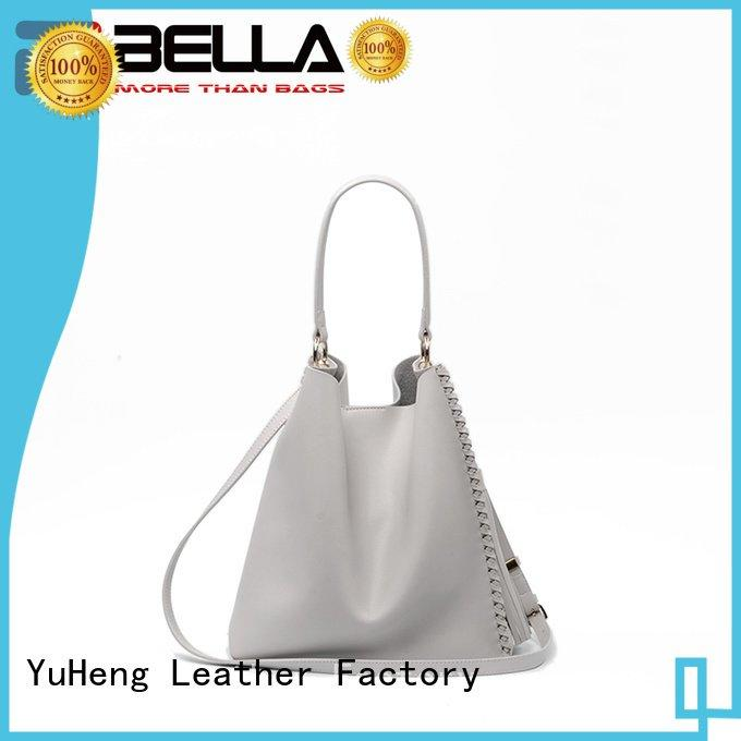 decoration tassel cheap leather tote bags BELLA