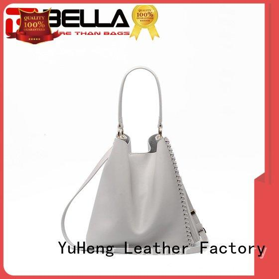 cheap leather tote bags decoration leather womens tote bags BELLA Brand