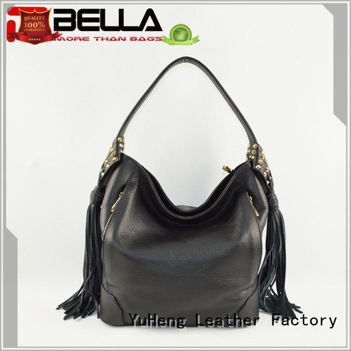soft Custom clutch 6014c leather shoulder bag BELLA gray