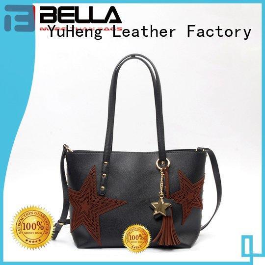 decoration leather shoulder handbags tassels BELLA
