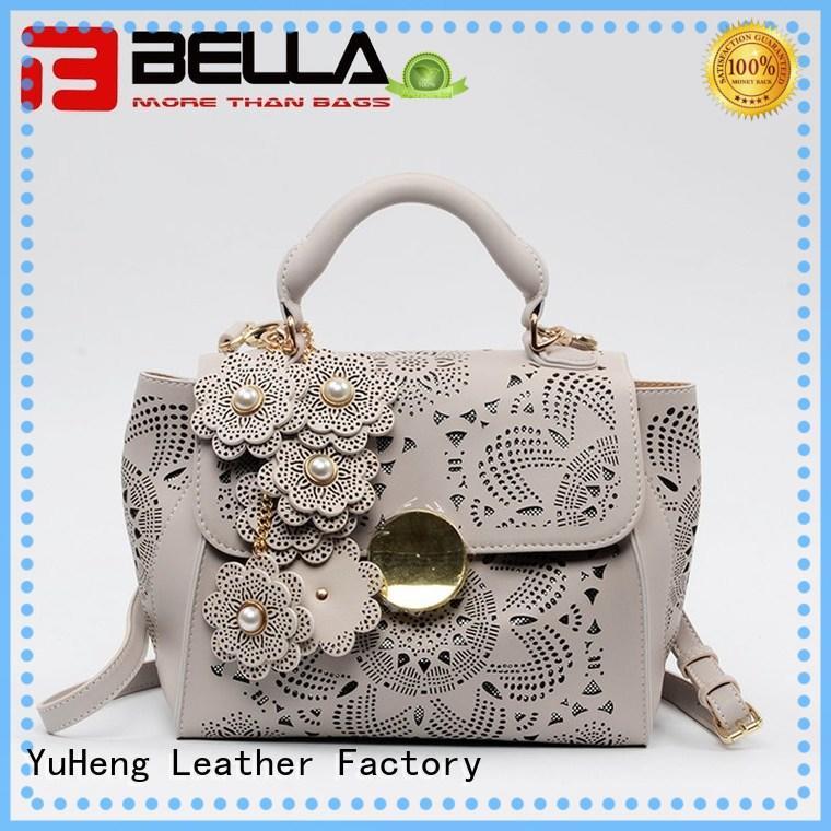 BELLA Brand item bluishgreen leather shoulder handbags manufacture