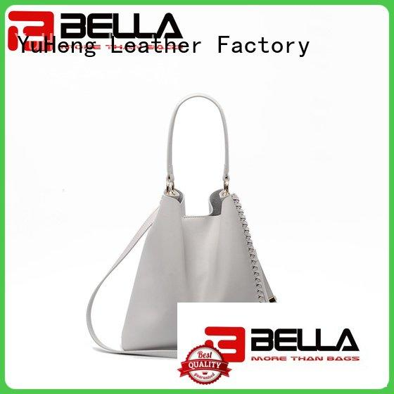 Quality cheap leather tote bags BELLA Brand metal womens tote bags