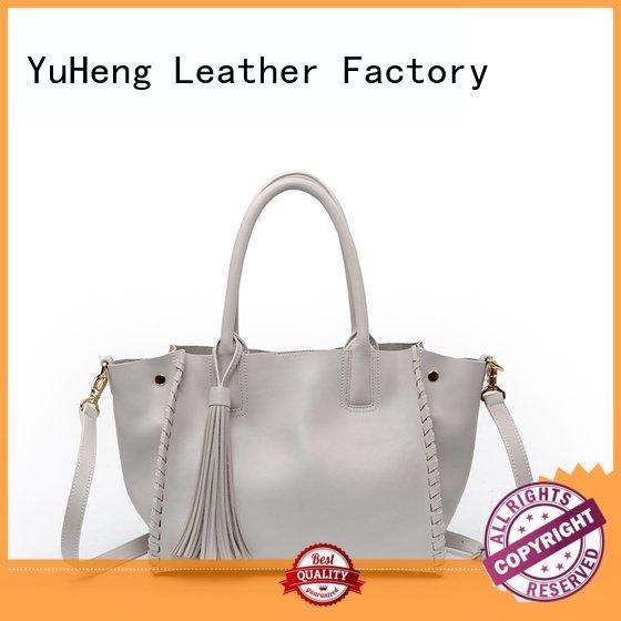 Custom tassel patch leather shoulder bag