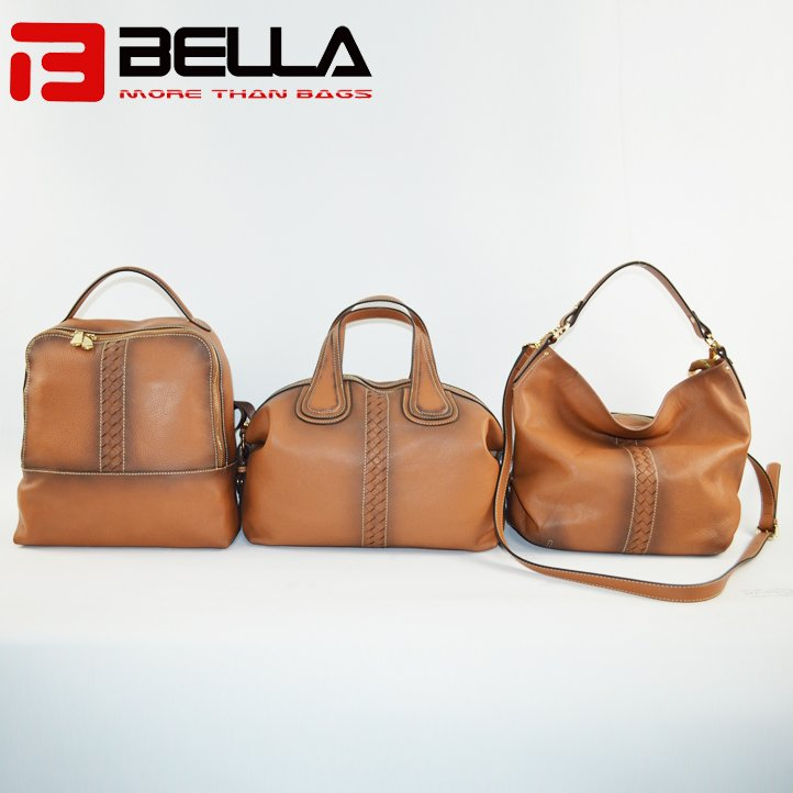 BELLA-High-quality Genuine Cow Leather Camel Color Retro Leather Shoulder-9