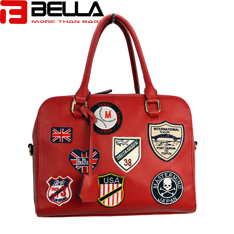 BELLA-Fashion Handbag Fabric Chapter Handbag China Factory Be1514-6