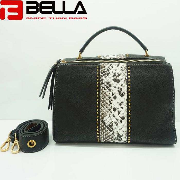 BELLA-High Quality China Handbag Factory Fake Snake Leather Ofj2298-6