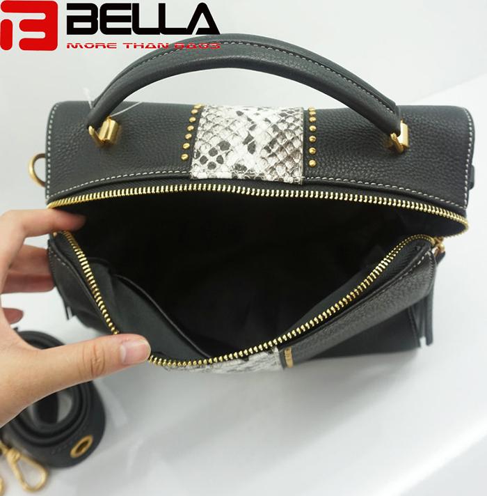 BELLA-High Quality China Handbag Factory Fake Snake Leather Ofj2298-8