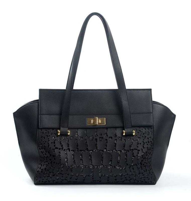 Black PU handbag 6026A