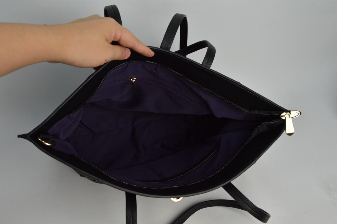 Black PU shoulder bag 6026C