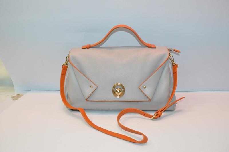 Light grey handbag 8813