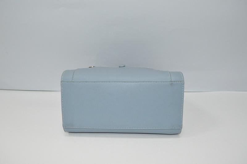 Powder blue PU handbag  BE-4585