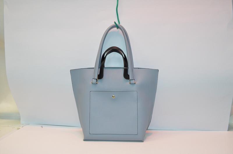 Powder blue tote bag BE-4586