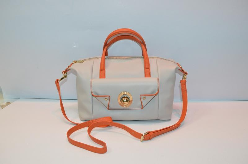 Apricot PU handbag 8818
