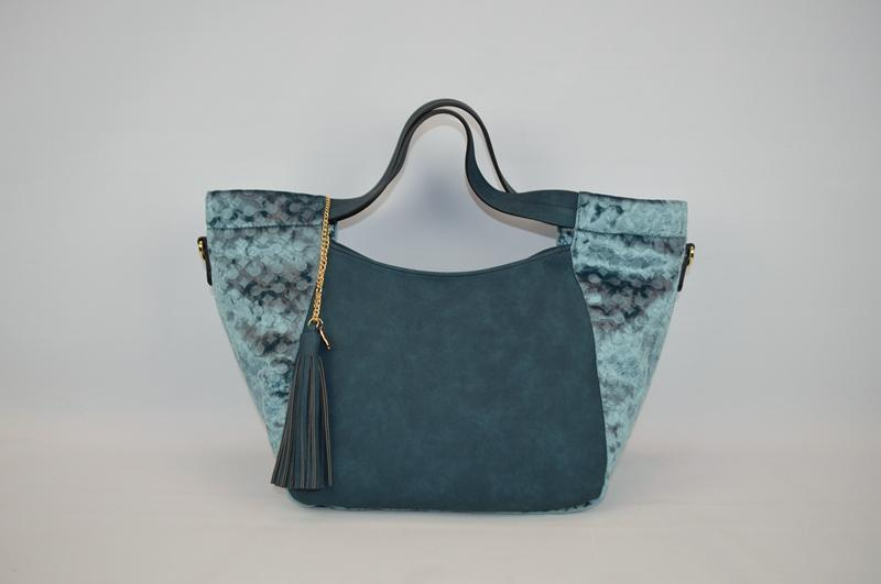 Deep bluish-green handbag BE-4579