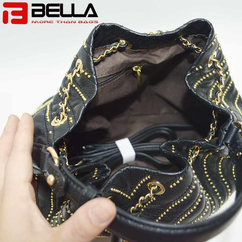 Top genuine cow leather bag  cross body bag bucket bag,chain bag BE-180107