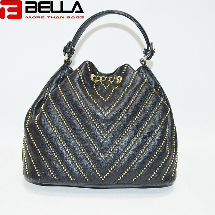 BELLA-High-quality Top Genuine Cow Leather Bag Cross Body Bag Bucket Bag-1