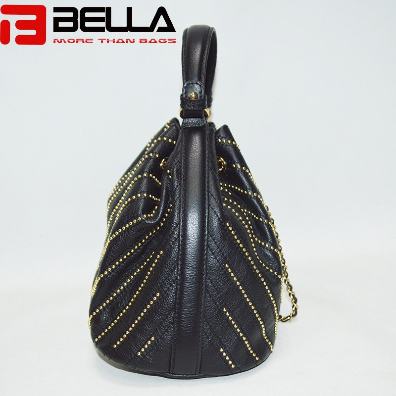 BELLA-High-quality Top Genuine Cow Leather Bag Cross Body Bag Bucket Bag-4
