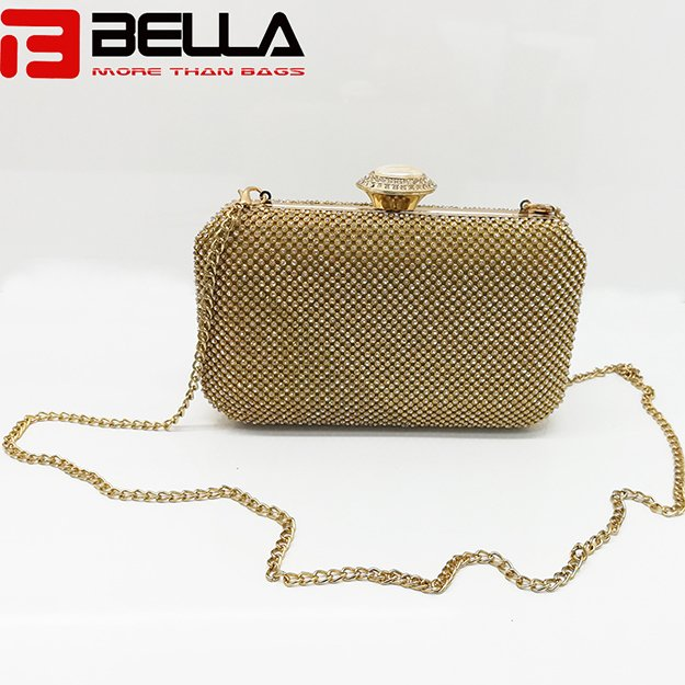 BELLA-Fashion Metal Clutch Bag Ladies Beading Bag For Wedding Party-2