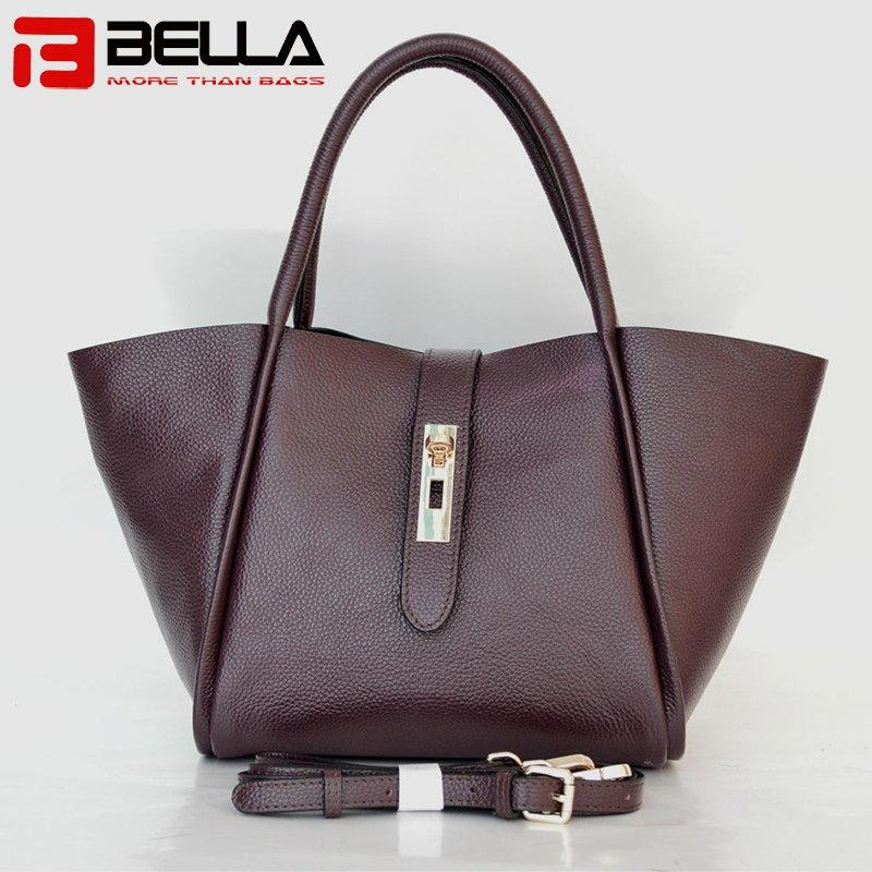 top grain leather handbag guangzhou china factory BE3803