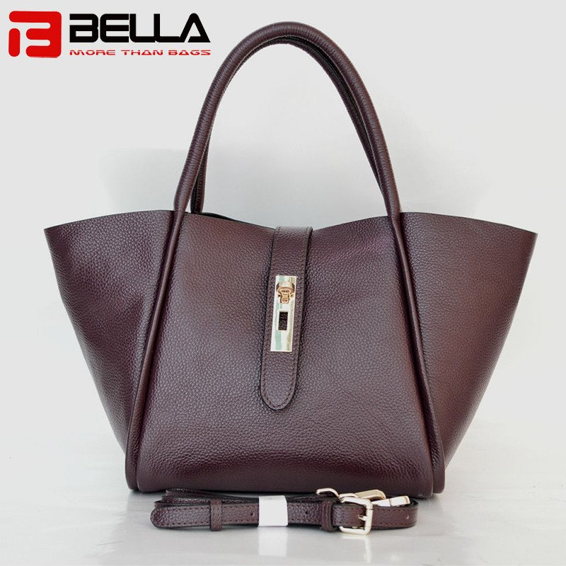 BELLA-Find Large Leather Shoulder Bag Black Shoulder Bag From Bella Bags-8