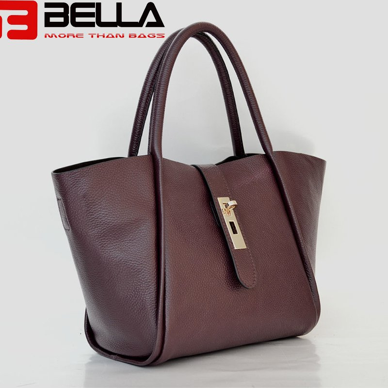 BELLA-Find Large Leather Shoulder Bag Black Shoulder Bag From Bella Bags-9