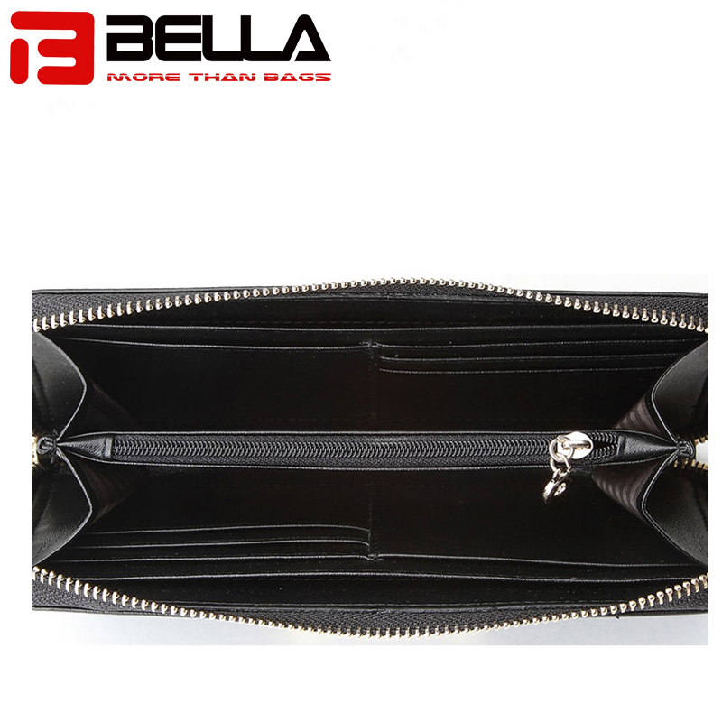 BELLA-High-quality Genuine Leather Ladies Wallet Women Purse Woven Wallet-2