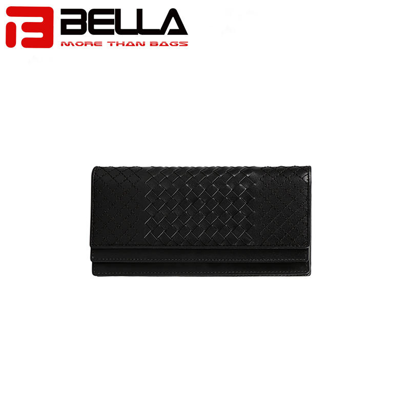 Wholesale Ladies Handcrafted Woven Leather  Long  women walletBW011