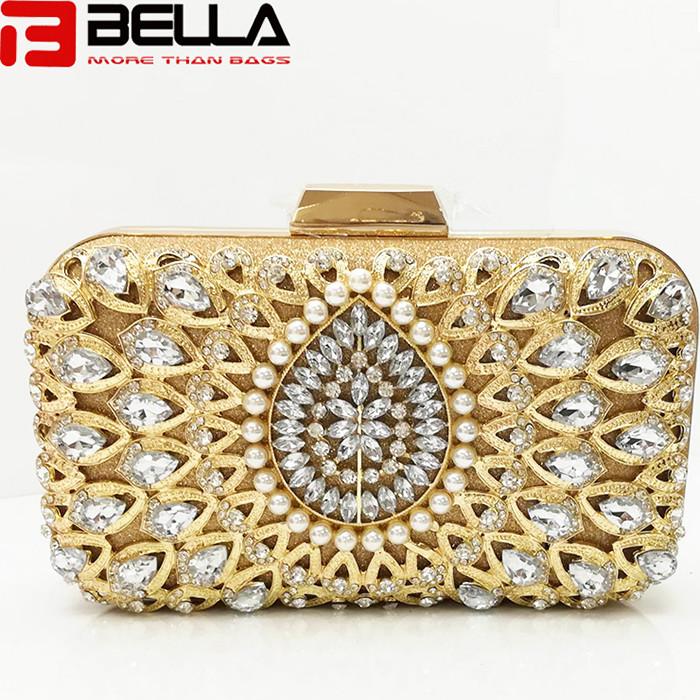 BELLA-Fashion Box Clutch Bag Ladies Beading Bag For Wedding Party Evening Bag Manufaturer Be005