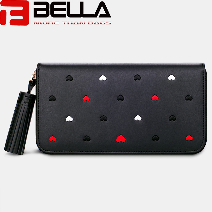 BELLA-Lady Wallet Long Wallet China Factory Oem Odm Interesting Embroidery Wallet Bw047
