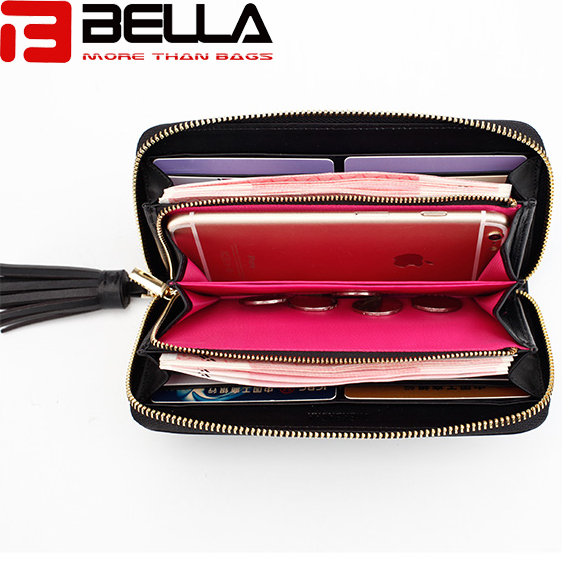 BELLA-Lady Wallet Long Wallet China Factory Oem Odm Interesting Embroidery Wallet Bw047-2