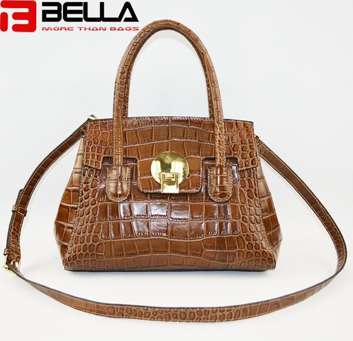 fashion crocodile pattern leather cross body bag