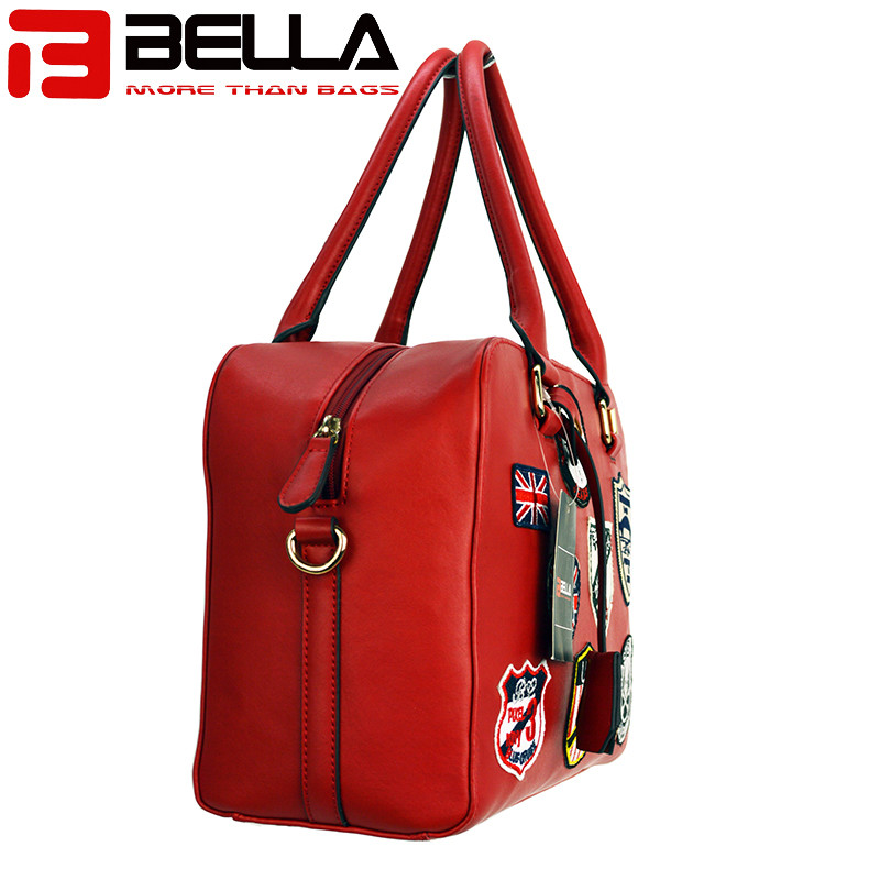 BELLA-Fashion Handbag Fabric Chapter Handbag China Factory Be1514-7