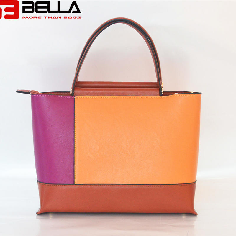 synthetic leather handbag colorful handbag china manufacture OEM ODM BE3888