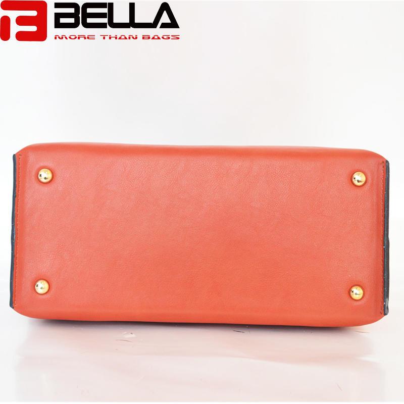 synthetic leather handbag colorful handbag china manufacture OEM ODM BE3888