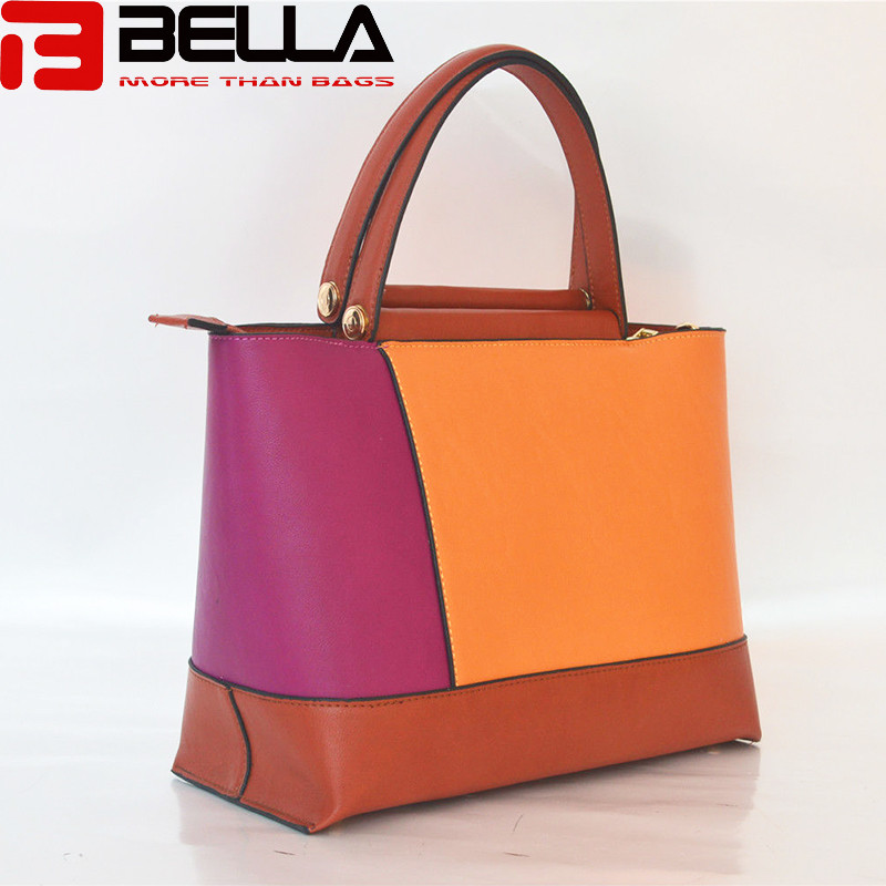 BELLA-Synthetic Leather Handbag Colorful Handbag China Manufacture Oem Odm Be3888-7