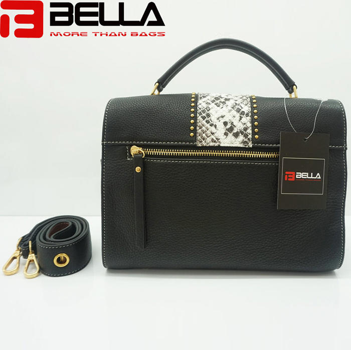 High Quality China Handbag Factory Fake Snake  Leather Ofj2298