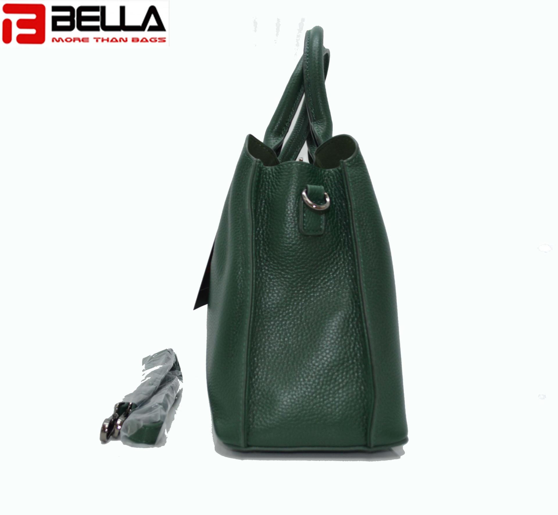 Deep Green Cow Leather Cross body Bag HY8106