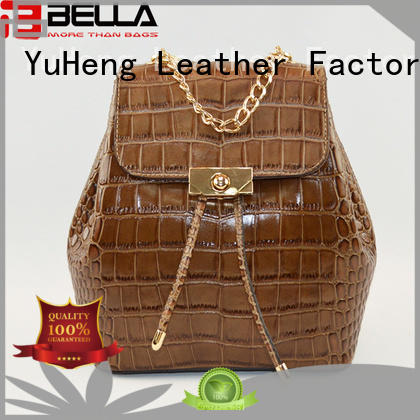 BELLA strict inspection ladies leather backpack bags manufacturer for women