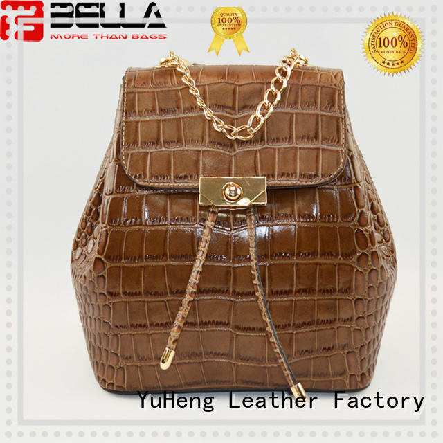 simple backpack leather bags crocodile factory for importer