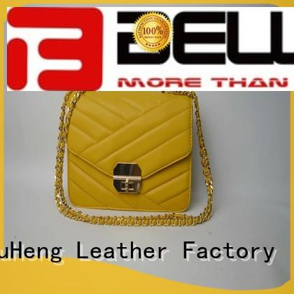Wholesale yellow handbag pu bag BELLA Brand