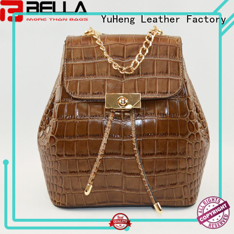 BELLA professional backpack leather bags manufacturer for wholesale