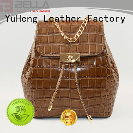 BELLA crocodile backpack leather bags factory for women