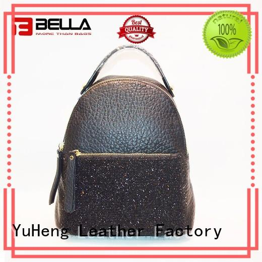 BELLA 180110 womens leather backpack handbags chinese manufacturer for importer