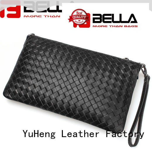 most popular leather clutch bc045 international market for lady